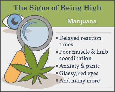 signs of marijuana use